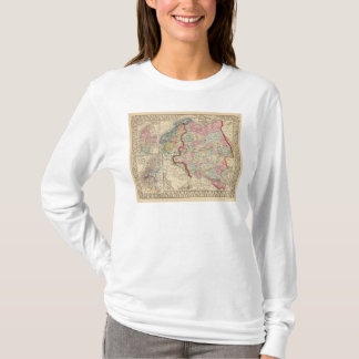 Russia, Sweden, Norway Map by Mitchell T-Shirt
