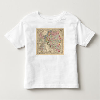 Russia, Sweden, Norway Map by Mitchell Toddler T-Shirt