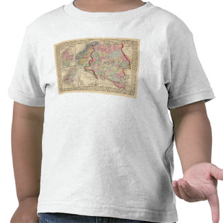 Russia Sweden Norway Map by Mitchell Tshirts