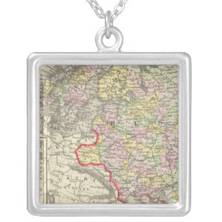 Russia, Sweden, Norway Silver Plated Necklace