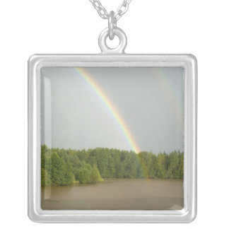 Russia, Typical river views between Goritzy & Silver Plated Necklace