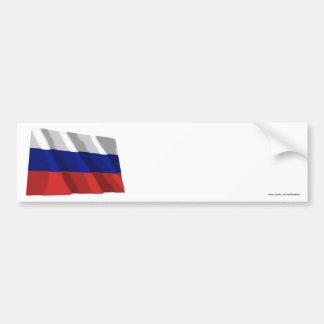 Russia Waving Flag Bumper Stickers
