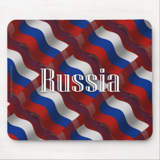 Russia Waving Flag Mouse Pad