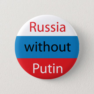 Russia without Putin 6 Cm Round Badge