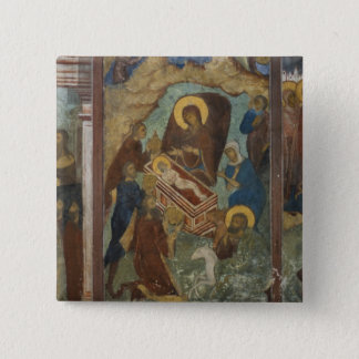 Russia, Yaroslavl, fresco in Cathedral of St. 2 15 Cm Square Badge