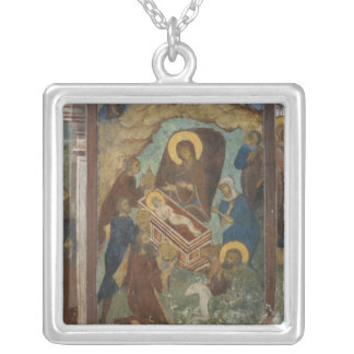Russia, Yaroslavl, fresco in Cathedral of St. 2 Silver Plated Necklace