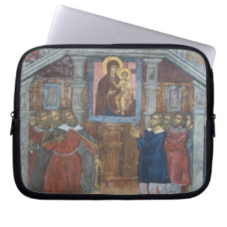 Russia, Yaroslavl, fresco in Cathedral of St. Laptop Computer Sleeves