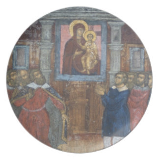 Russia, Yaroslavl, fresco in Cathedral of St. Plate