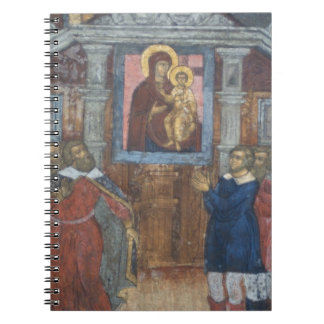 Russia, Yaroslavl, fresco in Cathedral of St. Spiral Notebook