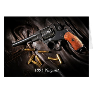 Russian 1895 Nagant Revolver Greeting Card