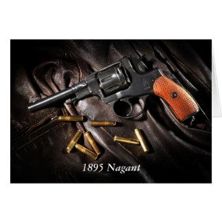Russian 1895 Nagant Revolver Greeting Card