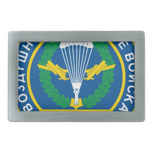 Russian Airborne Troops, shoulder patch (1994) Rectangular Belt Buckle