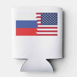 Russian American Flag Can Cooler