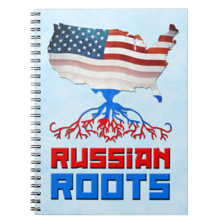 Russian American Roots Notepad Notebook