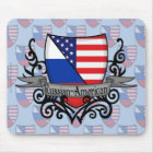 Russian-American Shield Flag Mouse Mat