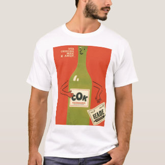 Russian Anti-Alcohol Propoganda T-Shirt