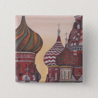 Russian Architecture 15 Cm Square Badge