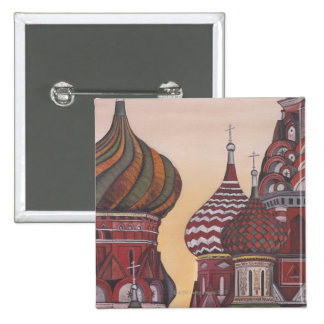 Russian Architecture 15 Cm Square Badge