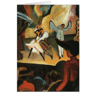 Russian Ballet by August Macke Greeting Cards