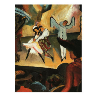 Russian Ballet by August Macke Postcard