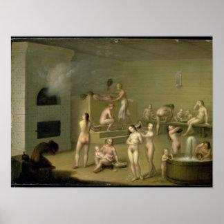 Russian Bath, 1825 Poster