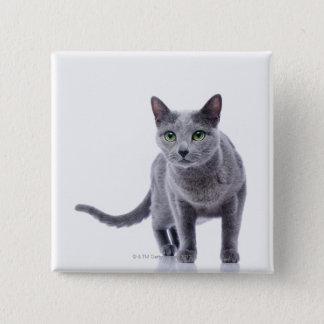 Russian Blue Cat 15 Cm Square Badge
