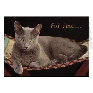 Russian Blue, Cat Card. Card