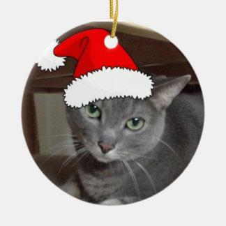 Russian Blue Cat Christmas Christmas Ornament