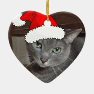 Russian Blue Cat Christmas Christmas Ornament
