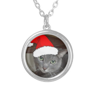Russian Blue Cat Christmas Jewelry