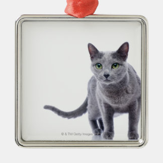 Russian Blue Cat Christmas Ornament