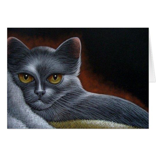 RUSSIAN BLUE CAT CUSTOMIZE CARD