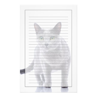 Russian Blue Cat Stationery