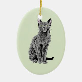 Russian Blue Christmas Ornament