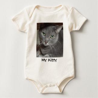 Russian Blue Gray Cat Baby Bodysuit