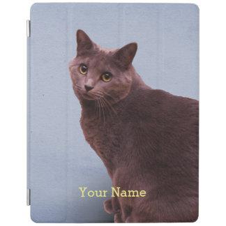 Russian Blue Kitty Cat iPad Cover