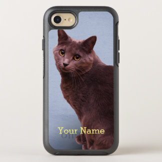 Russian Blue Kitty Cat OtterBox Symmetry iPhone 8/7 Case