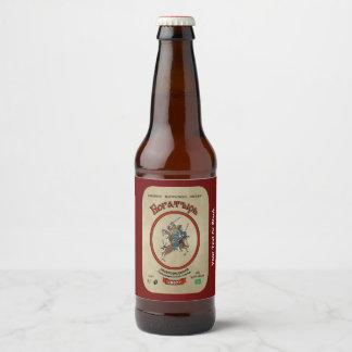 Russian Bogatyr Beer Bottle Label
