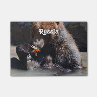 Russian Brown Bear Post-it® Notes