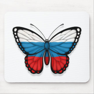 Russian Butterfly Flag Mouse Pad