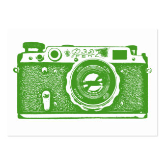 Russian Camera - Avocado Green on White Pack Of Chubby Business Cards