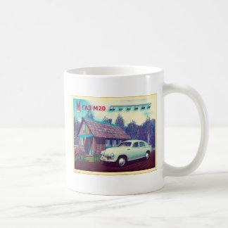 Russian Car And Dacha Basic White Mug