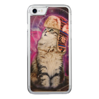 russian cat in space carved iPhone 8/7 case
