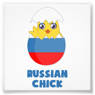 Russian Chick, a Girl from Russia Photo Print