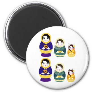Russian christmas dolls magnet