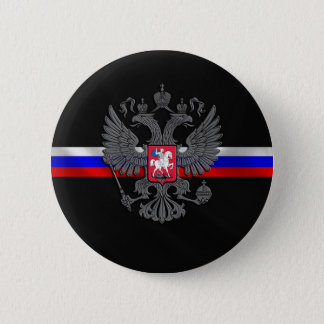 Russian Coat of arms 6 Cm Round Badge