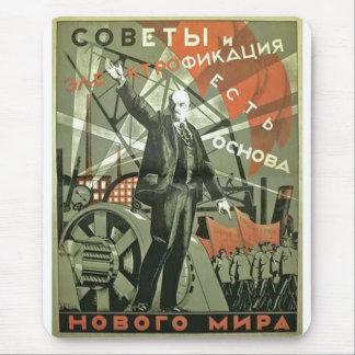 Russian Communist Propaganda Poster Mouse Mat