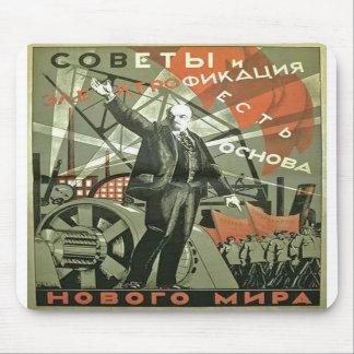 Russian Communist Propaganda Poster Mousepad