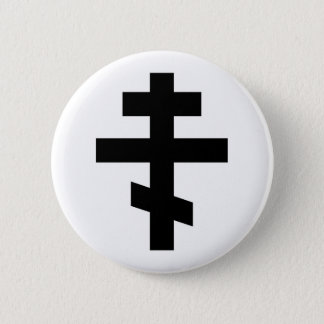 russian cross orthodox church religion god symbol 6 cm round badge