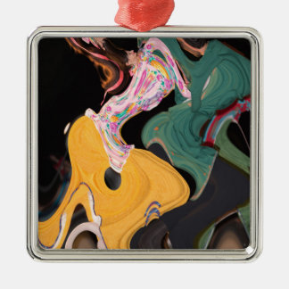 Russian dancers abstract christmas ornament